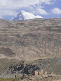 Mountain Karla Marxa Rising to 6723M, with Little Castle in Front, Shokh Dara Valley, Central Asia Photographic Print by Michael Runkel