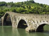 Ponte Del Diavolo or Ponte Della Maddalena, Borgo a Mozzano, Lucca, Tuscany, Italy, Europe Photographic Print by Nico Tondini