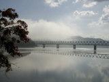 Early Morning at Lake Shuparo, Foot of Mount Yubari, Central Hokkaido, Japan Photographic Print by Tony Waltham