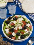 Greek Salad with Feta and Olives, Greek Food, Greece, Europe Photographic Print by Nico Tondini