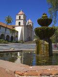 Fountain, Old Mission Santa Barbara, Santa Barbara City, California Photographic Print by Richard Cummins