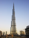 Burj Khalifa, the Tallest Tower in World at 818M, Downtown Burj Dubai, United Arab Emirates Photographic Print by Amanda Hall