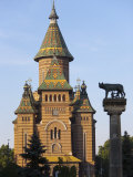Metropolitan Cathedral and Romulus and Remus Column, Timisoara, Romania, Europe Photographic Print by Marco Cristofori