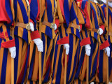 Swiss Guards Parading, Vatican, Rome, Lazio, Italy, Europe Photographic Print by  Godong