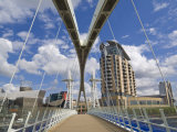 Modern Architecture of New Apartment Buildings and Lowry Centre Fron the Millennium Bridge, England Photographic Print by Neale Clark