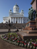 Tsar Alexander Ii Memorial and Lutheran Cathedral, Senate Square, Helsinki, Finland, Scandinavia Photographic Print