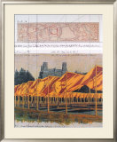 The Gates, Project for Central Park, Collage 1990 Prints by Christo