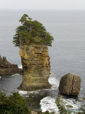 Sea Stack, Sonno Headland, Rikuchu Kaigan Coast National Park, East Coast of Northern Honshu, Japan Photographic Print by Tony Waltham