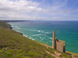 Wheal Coates, Abandoned Disused Cornish Tin Mine, Near St. Agnes, North Cornwall, England Photographic Print by Neale Clark