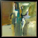 Abstract in Green II Art by Natasha Barnes