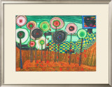 Black Girl, Discovery in the Kingdom of the Toros Print by Friedensreich Hundertwasser