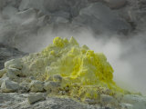 Steaming Sulphur Dome on Volcanic Solfatara Vent, Io-Zan, Akan National Park, Hokkaido, Japan, Asia Photographic Print by Tony Waltham