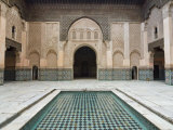 Ben Youssef Medersa (Koranic School), UNESCO World Heritage Site, Marrakesh, Morocco, North Africa Photographic Print by Nico Tondini