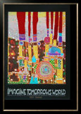 Imagine Tomorrows World (orange) Posters by Friedensreich Hundertwasser