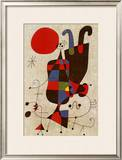 Inverted Personages Print by Joan Miró