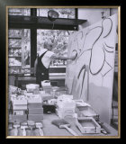 Painting in his East Hampton Studio Prints by Willem de Kooning