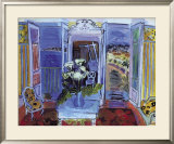 Indoors with the Window Open Prints by Raoul Dufy