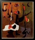 Personnages Rythmiques, 1934 Print by Joan Miró