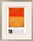 Twentieth Century Art Masterpieces -Mark Rothko - Orange and Tan Posters by Mark Rothko