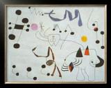 Mujer Sonando en su Evansion, c.1945 Print by Joan Miró