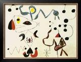 Femmes et Oiseau la Nuit, 1945 Prints by Joan Miró