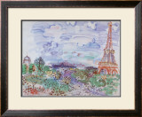 La Tour Eiffel, 1935 Prints by Raoul Dufy
