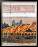 The Gates, Project for Central Park, Collage 1990 Posters by Christo 