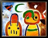 L'Oisauau Plumage Deploye Poster by Joan Miró