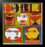 We Live in Paradise, c.1999 (detail) Poster by Friedensreich Hundertwasser
