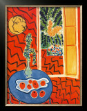 Red Interior, Still Life on Blue Table, c.1947 Posters by Henri Matisse