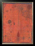 Fruchte Auf Rot, c.1930 Poster by Paul Klee