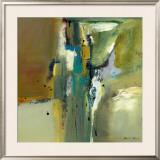 Abstract in Green II Poster by Natasha Barnes