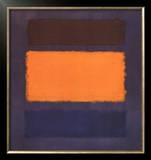 Untitled, Brown and Orange on Maroon Poster by Mark Rothko