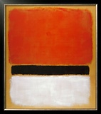 Untitled (Red, Black, White on Yellow), 1955 Poster by Mark Rothko