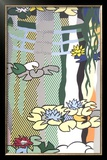 Water Lilies with Japanese Bridge Posters by Roy Lichtenstein