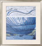 Over The River X: Project for Arkansas River Prints by  Christo