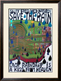 Save the Rain Posters by Friedensreich Hundertwasser