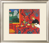 Red Bedroom Prints by Henri Matisse