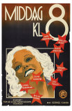 Dinner at Eight, Swedish Movie Poster, 1933 Prints