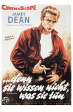 Rebel Without a Cause, German Movie Poster, 1955 Photo