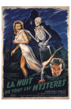 House On Haunted Hill, French Movie Poster, 1958 Posters