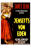 East of Eden, German Movie Poster, 1955 Print