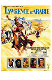 Lawrence of Arabia, French Movie Poster, 1963 Láminas