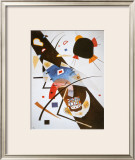 Two Black Spots Poster by Wassily Kandinsky