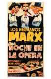 A Night At The Opera, Spanish Movie Poster, 1935 Poster