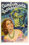 Wuthering Heights, Argentine Movie Poster, 1939 Print