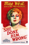 She Done Him Wrong, 1933 Print