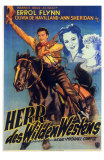 Dodge City, German Movie Poster, 1939 Poster