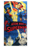 Atom Man Vs. Superman, 1948 Print