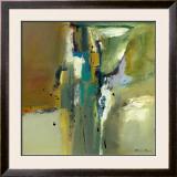 Abstract in Green II Prints by Natasha Barnes